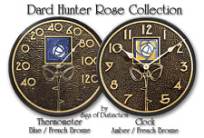 NEW!  DARD HUNTER INDOOR-OUTDOOR CLOCK or THERMOMETER!