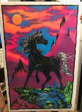 Horse, Mountains, Moon Black Light Poster 22 1/2in X 35in