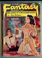 "1948 Avon""Fantasy Reader""#7 Robert E. Howard Science Fiction pulp Sax Rohmer"