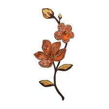 ID 5132 Flower Floral Decoration 3D Petals with Beads Iron On Applique Patch