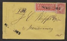 1877 Manitowaning-Lake-Huron, MAN Br. Ci. OC 22, receiver on a registered cover