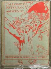 PETER PAN & WENDY~ JM BARRIE ~ ILLUSTRATED MABEL  LUCIE ATWELL ~ 1940 HC