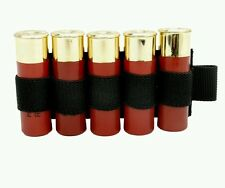 Shotgun shell holder velcro patch 5 shell airsoft tactical fast free uk p&p