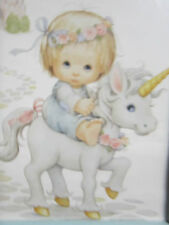 Little Princess  Unicorn Castle Fairy Tale Childrens Room Nursery Baby Wall Art