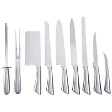 10-pc Professional Chef's Cutlery Knife Set Surgical Stainless with Canvas Case