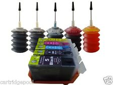Refillable ink cartridges for Canon PGI-5BK CLI-8:iP4200 iP4300 iP4500+5x30ml 1P