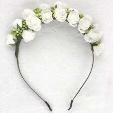 Newest Wedding Headband Kids Party Floral garlands with Ribbon Adjustable girls