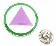 Straight Ally LGBT Safe Zone Logo Lapel Pin Badge