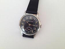 Vintage rare Jaeger LeCoultre cal.463 Black Military WWII Swiss Watch 40's