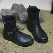 War correspondent black high boots marcus shoes 1/6 Model