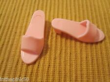 Barbie Shoes Mattel Pink Sandals For Flat Feet Poseable Barbie Dolls Too Cute!