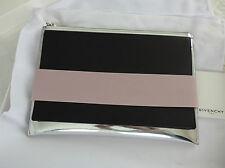 Pochette colour block en cuir argenté, noir et élastique rose Givenchy