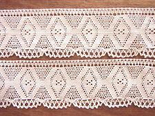 T.B.DENTELLE ANCIENNE FUSEAUX LE PUY handmade french lace LIN D vendue au mètre