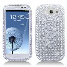 Bling Rhinestone Protector Case for Samsung Galaxy S3 i9300 - Silver