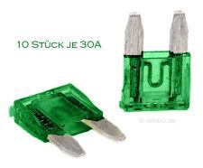 10 Stück 30A Auto-Sicherungen Mini KFZ Sicherungen Flachsicherungen