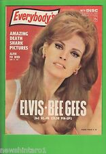 EVERYBODYS MAGAZINE 27th September 1967 - ELVIS PRESLEY & BEEGEES  PINUPS