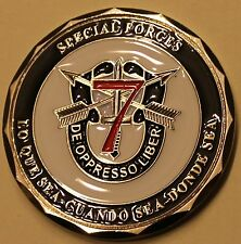 7th Special Forces Group Airborne 1st BN C Co Afghanistan Army Challenge Coin