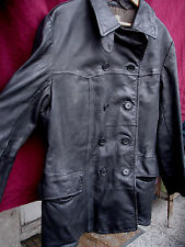 SALE! Vintage leather coat Pilot flight military Sweden WWII Mens 30s 40s