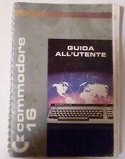 COMMODORE 16 Guida all'utente Libretto di Istruzioni in italiano - computer 1984