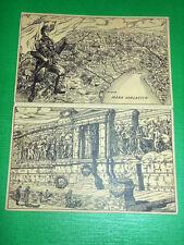 Cartolina doppia Militaria WWI - Italia Eroica - Monumento Ignoto Militi 1920 ca