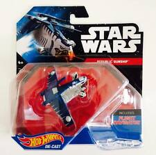 "Hotwheels Star Wars Vehicle "" REBUBLIC GUNSHIP "" SHARK FACE - Hot Pick"