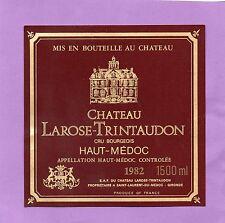 HAUT MEDOC CRU BOURGEOIS ETIQUETTE CHATEAU LAROSE TRINTAUDON 1982 150 CL§18/01§