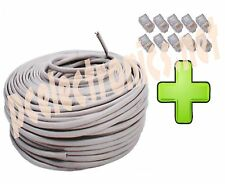 CAVO DI RETE 60 MT ETHERNET UTP CAT5E LAN INTERNET + 10 PLUG