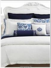 NIP $230 RALPH LAUREN KING BEDSKIRT Pure White/Embroidery PALM HARBOR Cotton
