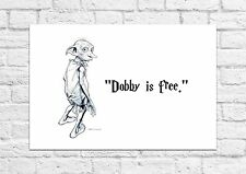 Dobby Is Free Art Print - Harry Potter - Must Have For All Fans - A4 Size