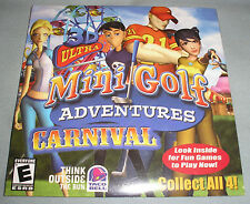 3D Ultra MiniGolf Adventures Carnival - PC Computer CD Taco Bell Video Game NEW!