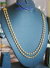 22K  gold plated real looking 2 in1 Chain,Necklace,Asain,  wedding jewellery u9
