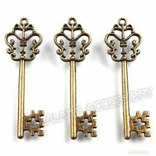 100x Wholesale Vintage Bronze Butterfly Key Charms Alloy Pendants Findings LC