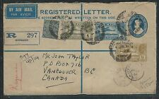 INDIA (P2806B) KGV 1934 1A 3P RLE UPRATED A/M 3A+4A+6A+3P FROM BURMA TO CANADA