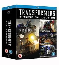 Transformers - 4 Movie Collection 1-4 (Blu-ray, 5 Discs, Region Free) *NEW*