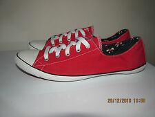 LADIES CONVERSE ALL STAR SLIM PUMPS SIZE UK 7.5 RED