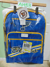 "VINTAGE 1996 NEW NOS ST LOUIS BLUES HOCKEY BACKPACK NHL12"" X 16"" X 5"" MANCAVE"