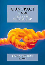 Contract Law: Text, Cases and Materials by Ewan McKendrick 5th Edition