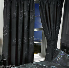 "ALCHEMY GOTHIC 66"" x 72"" CURTAINS EMO BLACK MAGISTUS GRIM REAPER SKELETON SCARY"