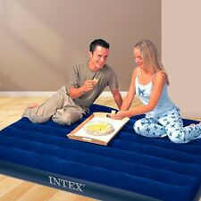 Queen Air Mattress Intex Raised Downy Airbed Bed Inflatable Blow Up Pump New
