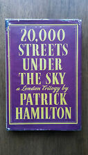 Patrick Hamilton – 20,000 Streets Under the Sky (2nd UK Constable 1943 hb w dw)