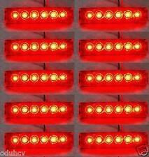 10 Stk. SET 12V SMD LED ROT HINTEN SEITENMARKIERUNGSLEUCHTEN POSITION-LKW