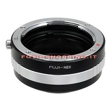ADAPTER FUJICA SONY NEX ADATTATORE ANELLO LENS RING CAMERA MOUNT NEX-7 A7 A5100