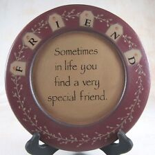 WOODEN PLATE 9.5 IN SPECIAL FRIEND COUNTRY FARMHOUSE TABLETOP DECOR