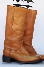 Frye mens leather campus riding boots 8 EE Made USA! New Heels! Nice VTG Patina!