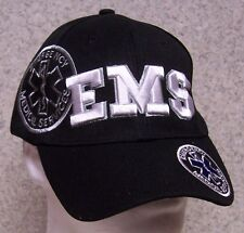 Embroidered Baseball Cap Emergency Medical Services EMS NEW 1 size fit all black
