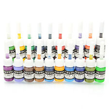 New 20 Colors Permanent Tattoo Makeup Ink 0.2oz 5mL Pigment for Body Art