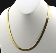 Mens 18K Yellow Gold Plated 24in Herringbone Chain Necklace 4 MM