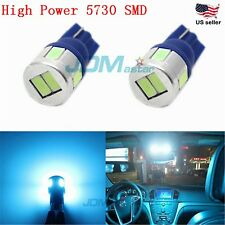JDM ASTAR T10 Wedge Ice Blue 5730 SMD Interior Lights LED Bulbs 194 168 2825 W5W