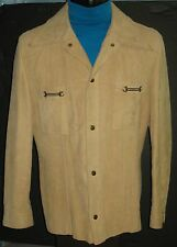 VINTAGE MENS LEATHER SHIRT/JACKET SILTON CALIFORNIA SIZE 40 LINED TAPERED CUT