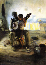The Banjo Lesson    by Henry Ossawa Tanner  Giclee Canvas Print Repro